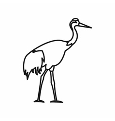 Japanese crane icon outline style vector image