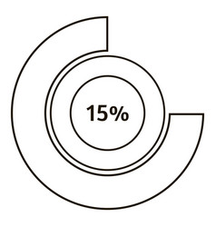 round diagram infographics outline style vector image