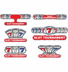 slot tournament vector image