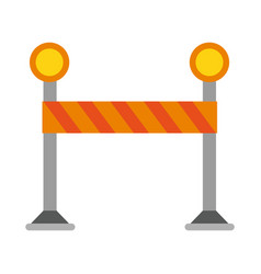 construction barrier isolated vector image