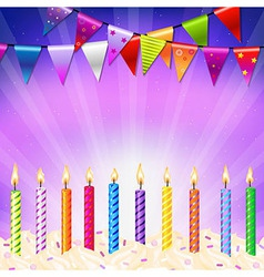 Happy birthday candles vector