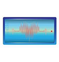 heart palpitations vector image