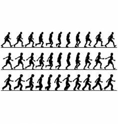 walkers vector image vector image