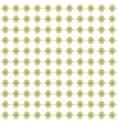 abstract connecting hexagonal pattern in green vector image