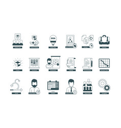 agility icons scrum methodology professional vector image
