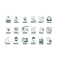 Agility icons scrum methodology professional vector