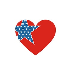 America USA logo love star icon vector image