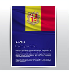 andorra flag design vector image