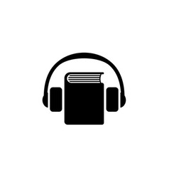 Audio guide flat icon vector