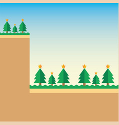 background mountain christmas tree vector image