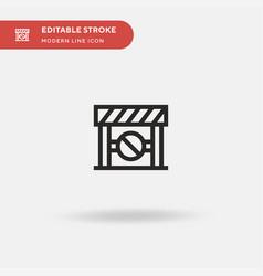 barrier simple icon symbol vector image
