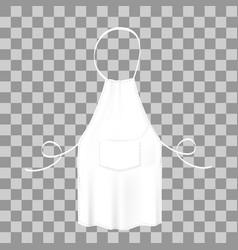 Blank white apron protective garment vector