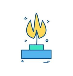 burner lab icon design vector image