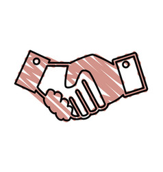 Business handshake symbol vector