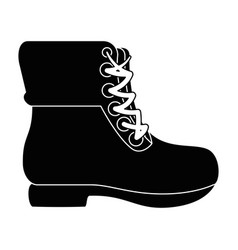 camping boots icon vector image
