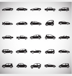 Cars collection set on white background for vector