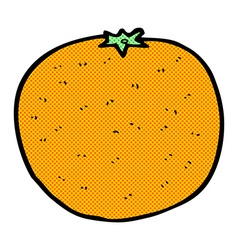 comic cartoon orange vector image