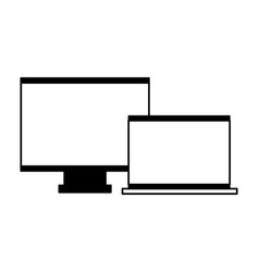 computer monitor laptop device vector image