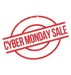 Cyber Monday Sale rubber stamp vector image