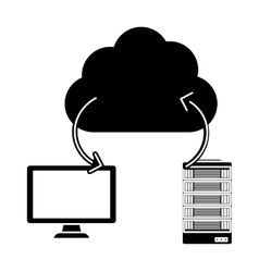 database hosting and tuning connecting image vector image