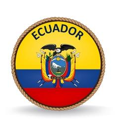 Ecuador seal vector