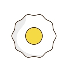 Egg breakfast food menu icon vector image