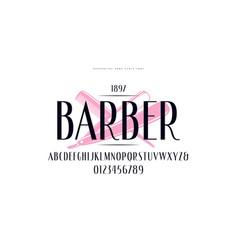 elegant narrow sans serif font vector image