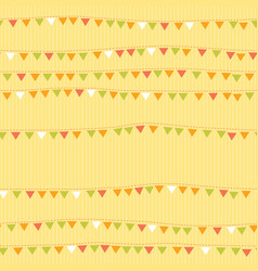 flags on string seamless pattern bunting vector image