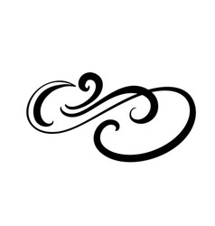 floral calligraphy element flourish hand vector image