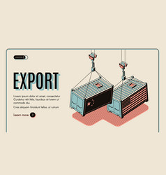 Foreign countries goods export website vector