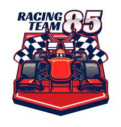 formula racing car design vector image