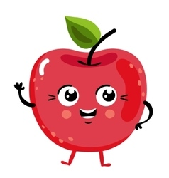 Funny fruit cherry isolated cartoon character vector image