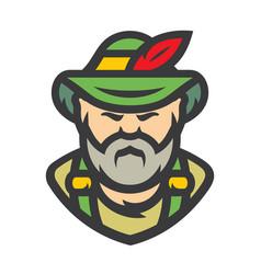 German man cartoon vector