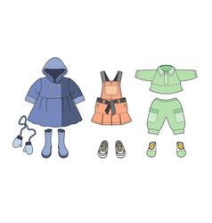 Girls clothes set vector