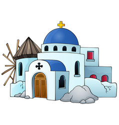 Greek theme image 5 vector
