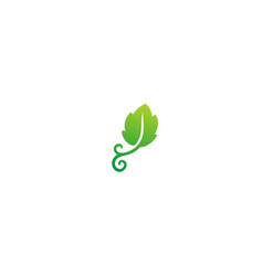 green leaf nature organic logo vector image
