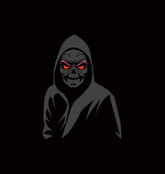 Grim reaper with red eyes vector