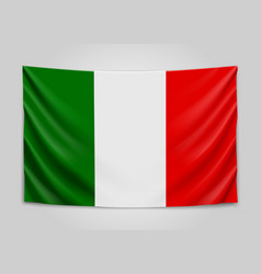 hanging flag italy italian republic national vector image
