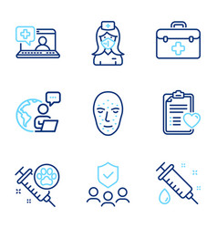 healthcare icons set included icon as dog vector image