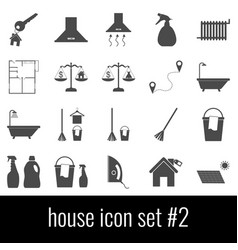 house icon set 2 gray icons on white background vector image