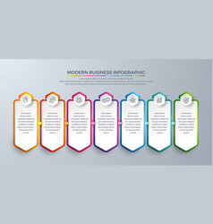 infographic design element with 7 process steps vector image