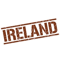 Ireland brown square stamp vector image