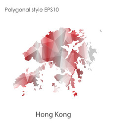 Isolated icon hong kong map polygonal vector