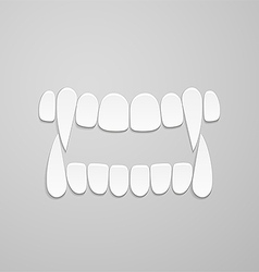 Jaw with canines vector