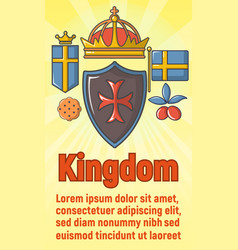 kingdom concept banner cartoon style vector image