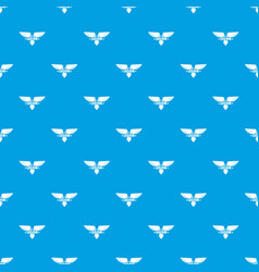 Legion wing pattern seamless blue vector