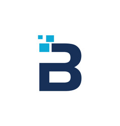 letter b technology vector image