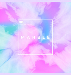 liquid marble iridescent background vector image