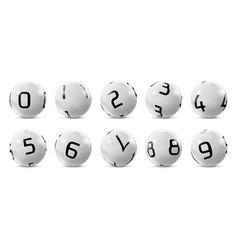 Lotto bingo grey balls with numbers vector