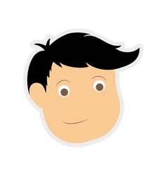 Man face icon Male person design graphic vector